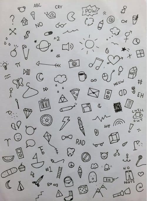 a collection of doodles