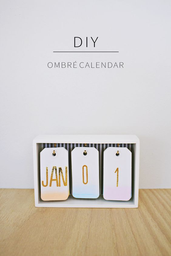 9. DESIGN YOUR DIY OMBRE CALENDAR