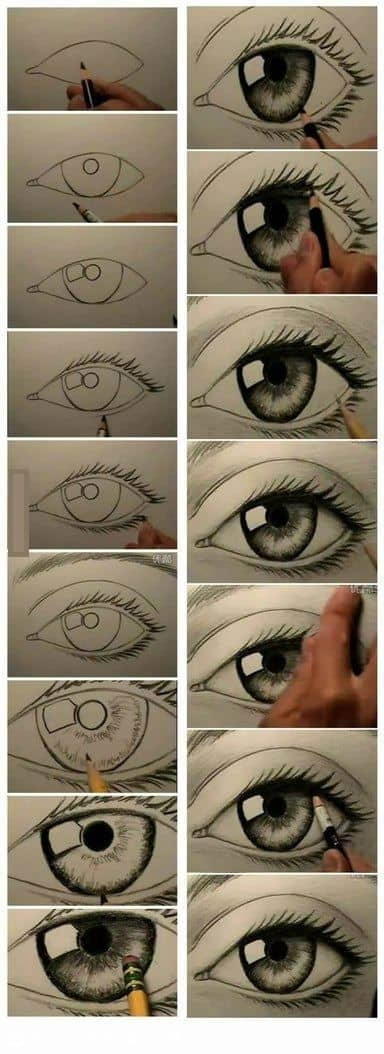 DRAWING AN EYE STEP BY STEP