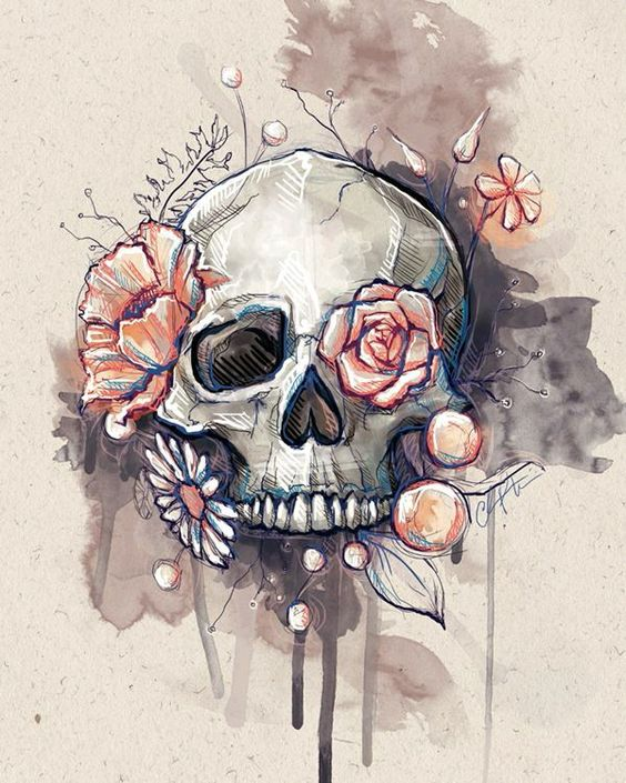 FLOWERED SKULL REBIRTH