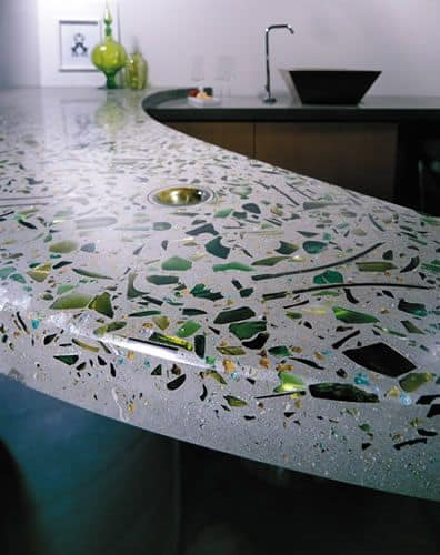 40. Attractive Concrete Mosaic Bar Top