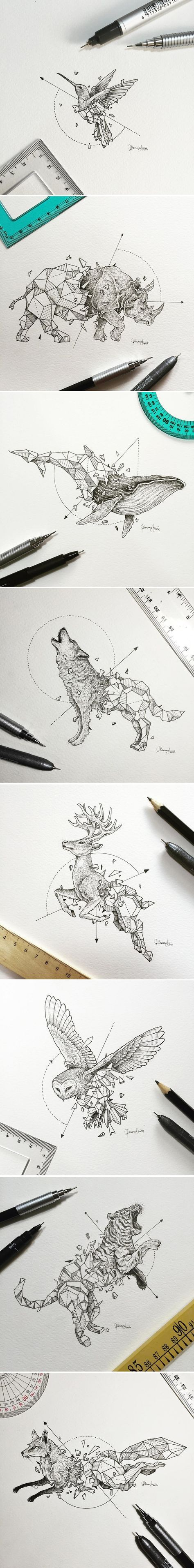 SCULPTING ANIMALS OUT OF GEOMETRY