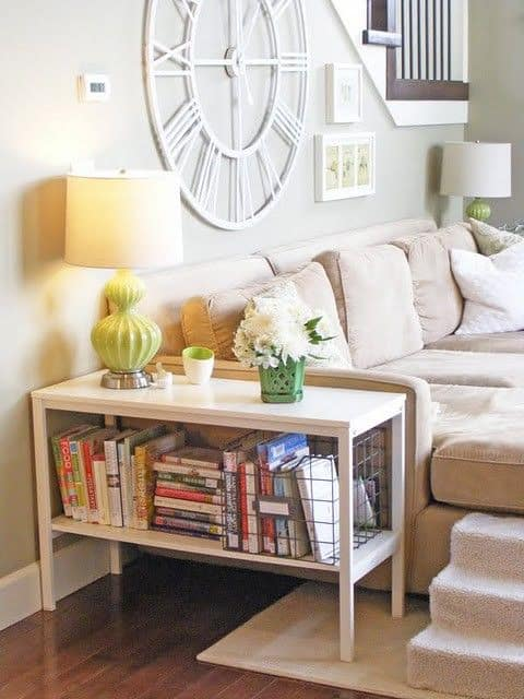 8. GORGEOUS WHITE DIY END TABLE