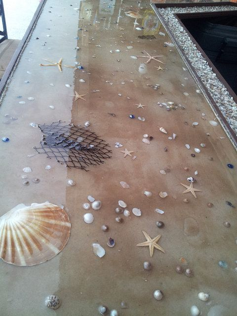 41. BRINGING THE BEACH INSIDE - THE SEASHELL BAR TOP