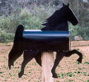 7. COOL HORSE SHAPED MAILBOX