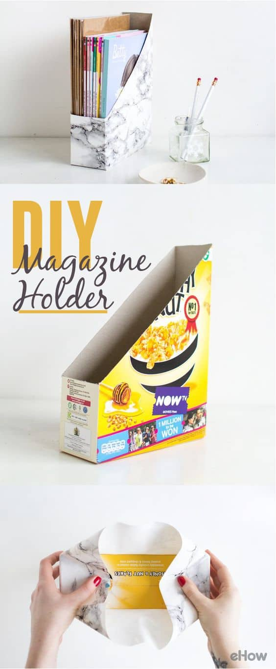 7. TAILOR DIY MARBLE MAGAZINE HOLDERS