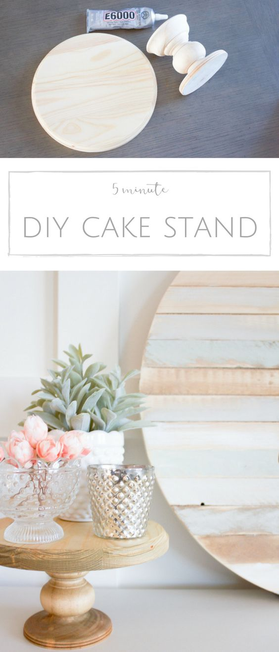 9. 5 MINUTE DIY CAKE STAND
