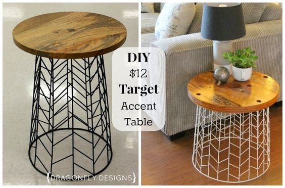 11. CREATING A DIY END TABLE WITH STORE-BOUGHT ITEMS