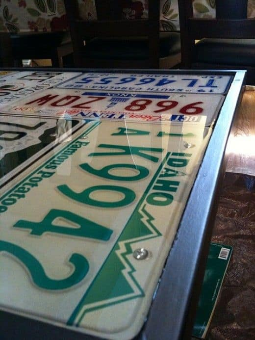 33. Exclusive Bar Top Design U2013 The License Plate Collection