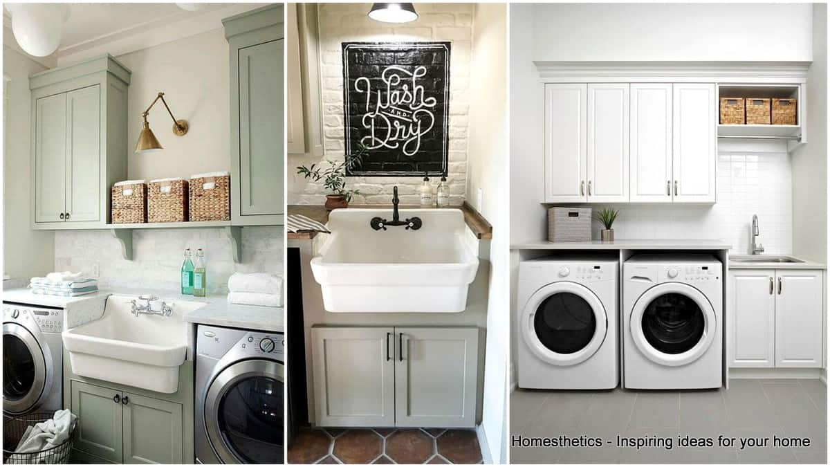 41 Beautifully Inspiring Laundry Room Cabinets Ideas To