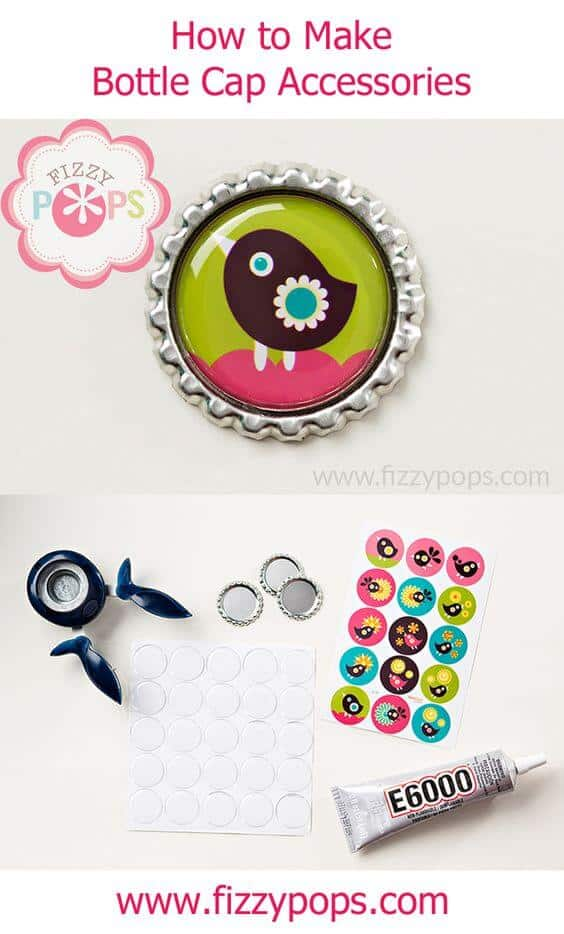 8. HAVE FUN WITH BOTTLE CAP CRAFTS