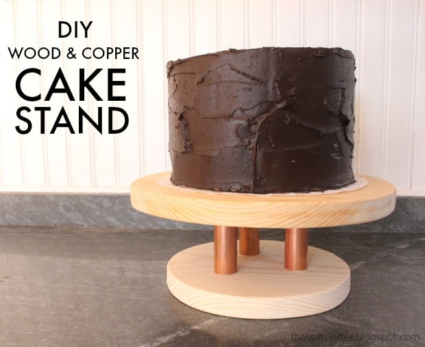 Copper Look Cake Stand