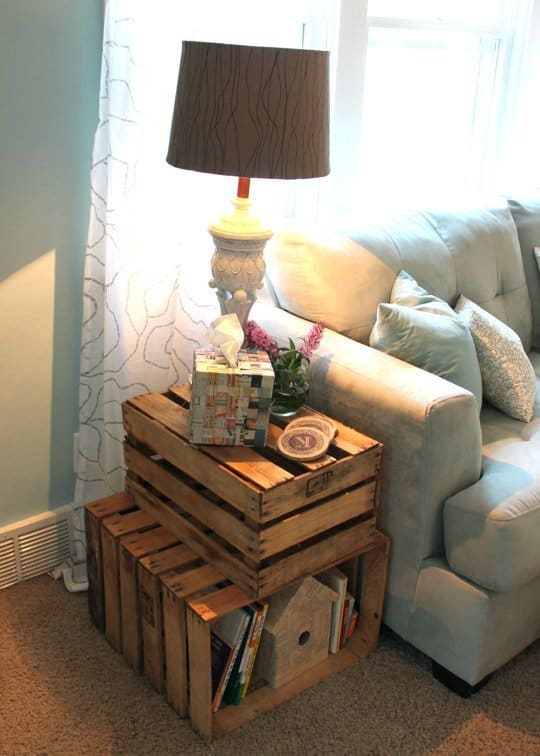 43 Ingeniously Creative DIY End Table For Your Home - Homesthetics ...