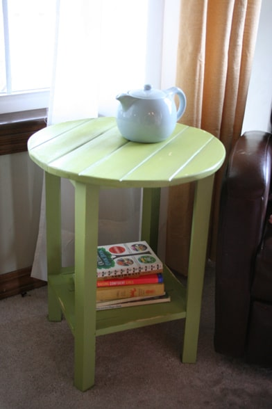 31. COLORFUL SMALL END TABLE