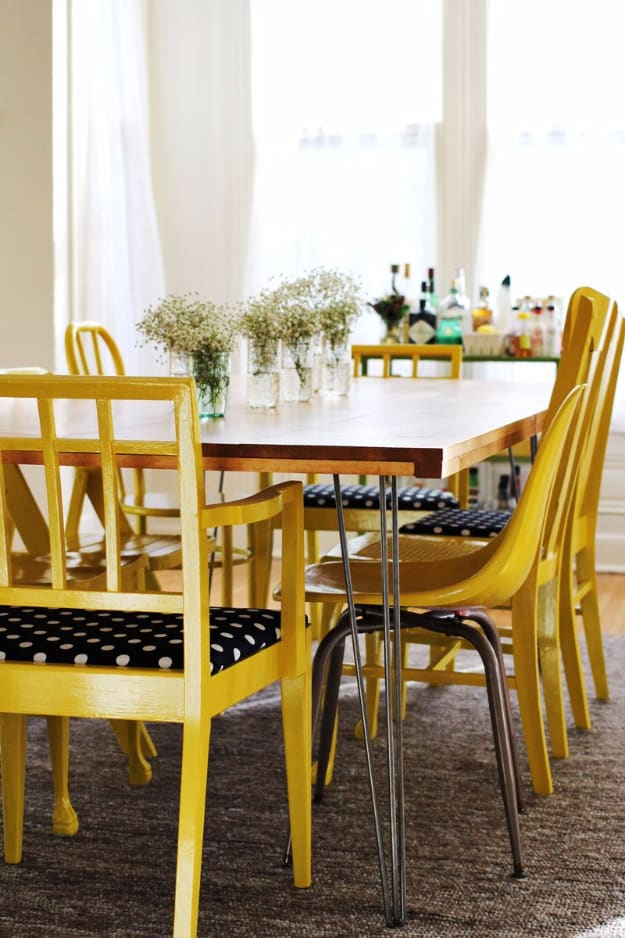 DIY Dining Room Table With Hairpin Legs