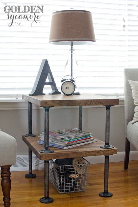 26. AN INDUSTRIAL END TABLE WILL DEFINITELY STAND OUT