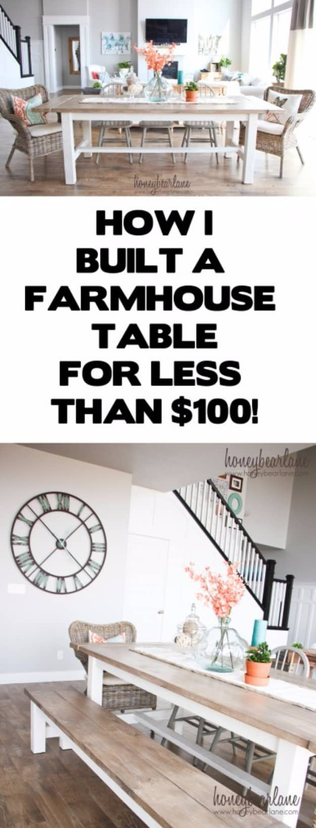 Epic And Inexpensive Farmhouse Table