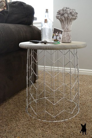 35. A CHICK PRESENCE - THE DIY WIRE BIN END TABLE