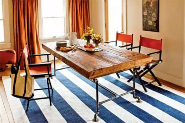 Dining Table from Salvaged Beams