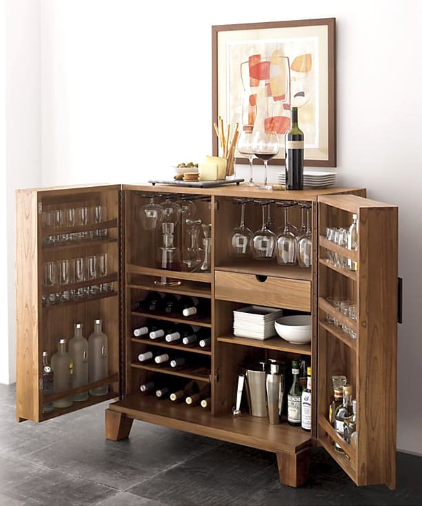 Gorgeous Mini Bar Cabinet For Small Es