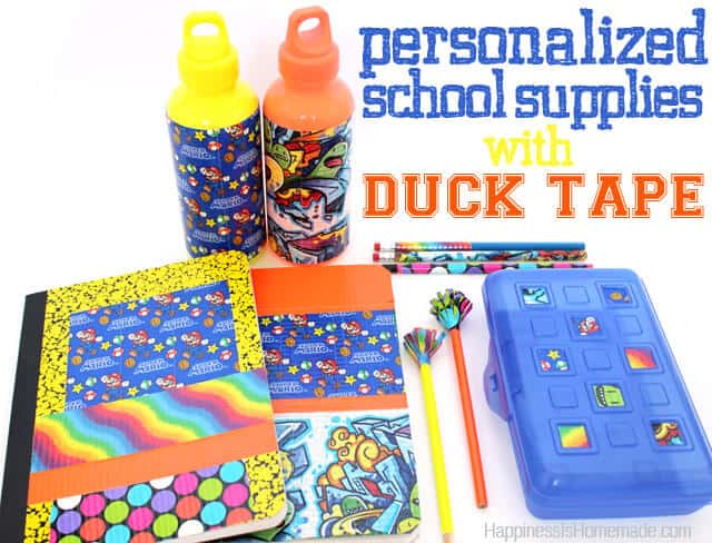 15. USE DUCT/WASHI TAPE TO PERSONALIZE SCHOOL GEAR