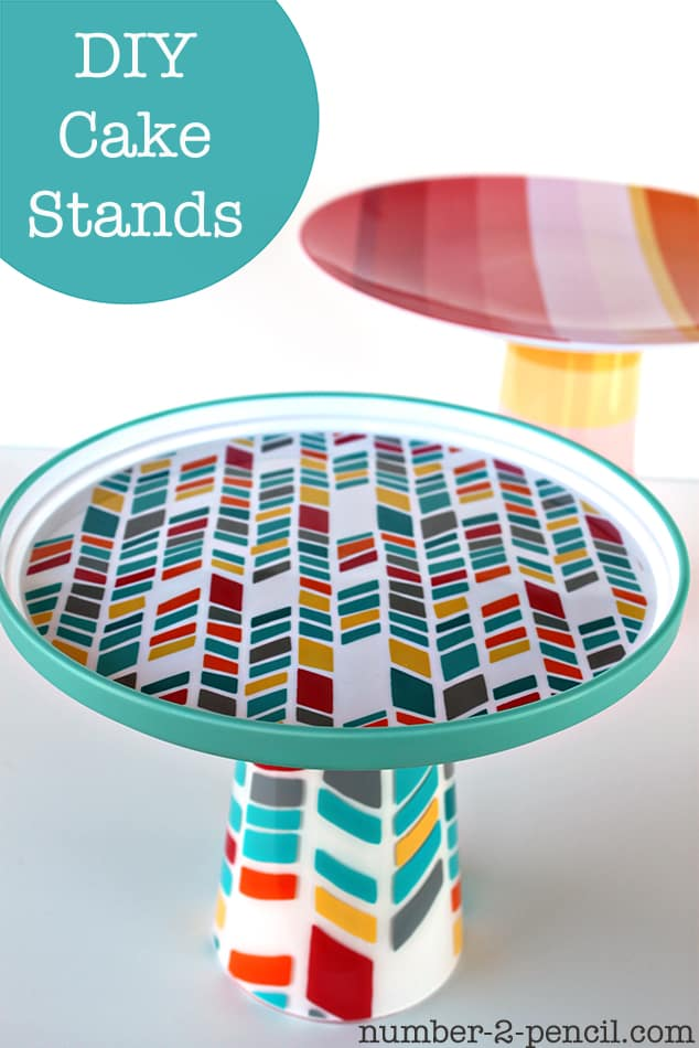 26. DIY CAKE STANDS IN FULL COLOR