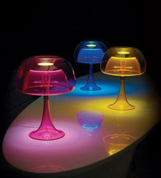 Spectacular jellyfish table lamps with transparent body