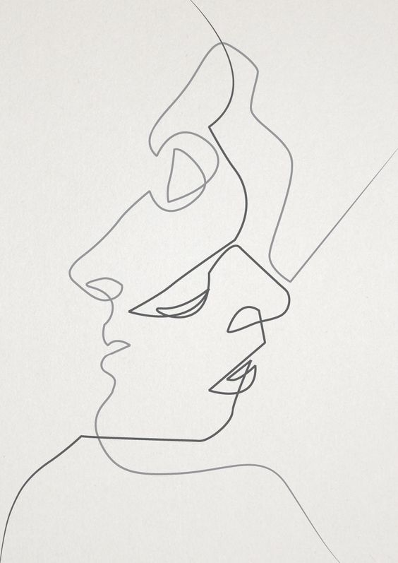 TWO ONE-LINE PORTRAITS