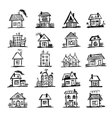 SMALL TRADITIONAL HOMES SKETCHED