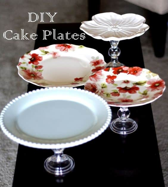 4. simple DIY cake Plates & 57 Insanely Beautiful DIY Cake Stand Designs to Realize ...
