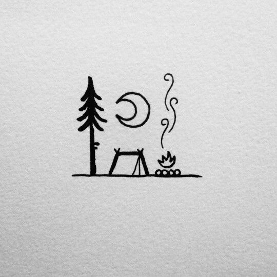 simple camping doodle