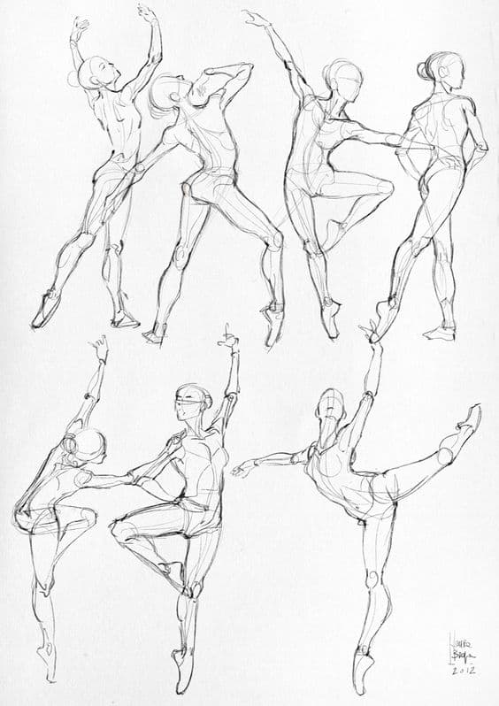 SCULPTURAL BLACK AND WHITE BODY MOVEMENT STUDIES