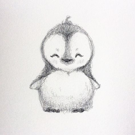 FLUFFY BABY PENGUIN SMILING