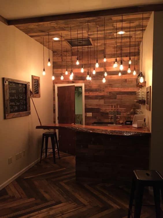 Wooden Bar Lights ~ Super cool bar top ideas to realize