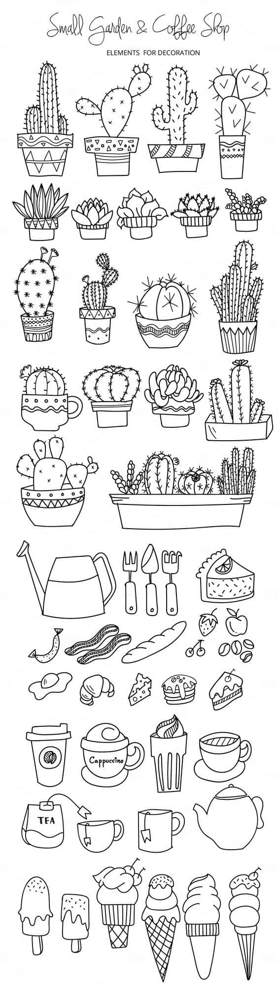 elements of decoration sketched