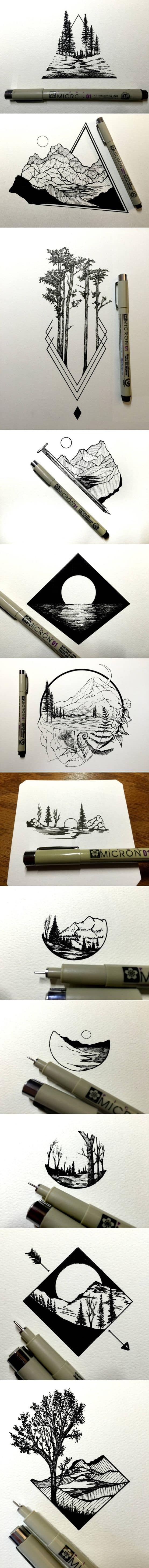 ALLURING MONOCHROMATIC MINI LANDSCAPES