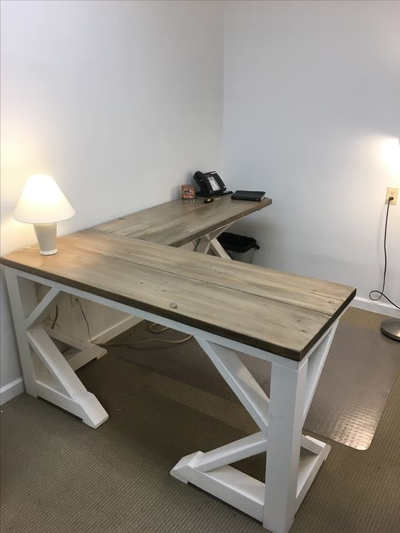 28. $80 INEXPENSIVE DIY FARMHOUSE DESK