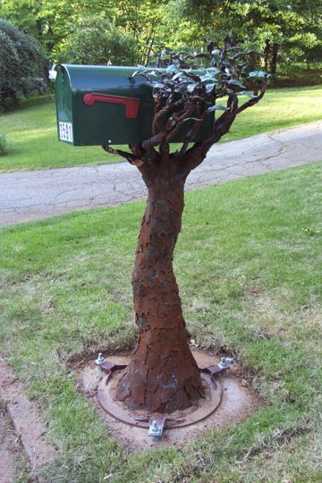 41. SCULPTURAL TREE-SHAPED MAIL