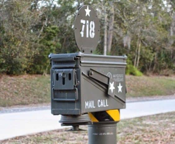 37. VETERANS OUGHT TO DESIGN THEIR OWN ARMY INSPIRED MAILBOX
