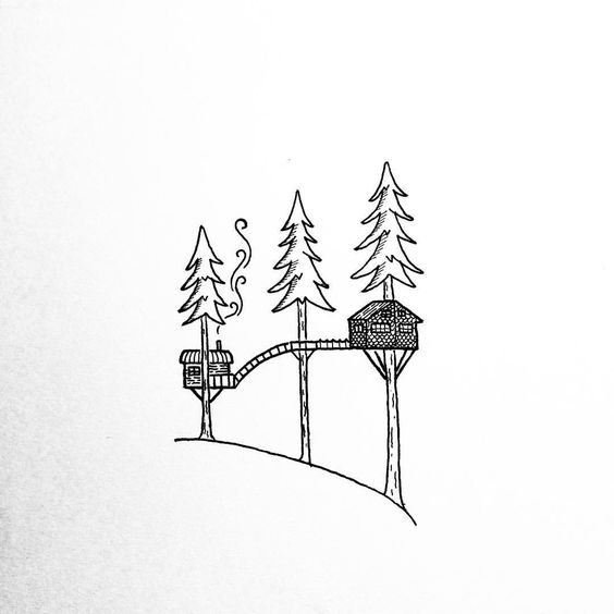 TREE HOUSE GRAPHIC ILLUSTRATION