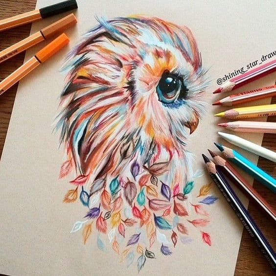 WATERCOLOR OWL PORTRAIT