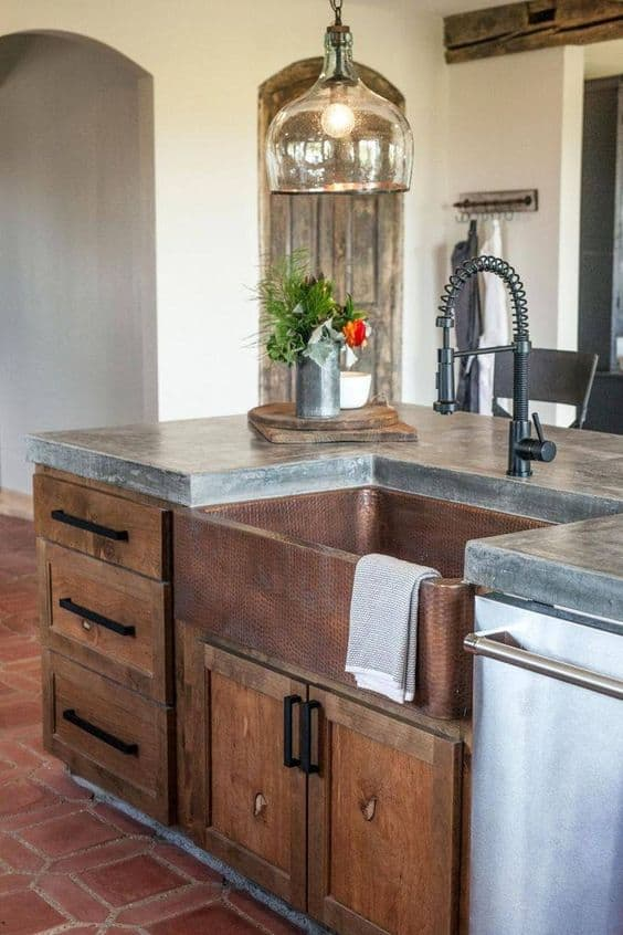 1. The crude granite countertop
