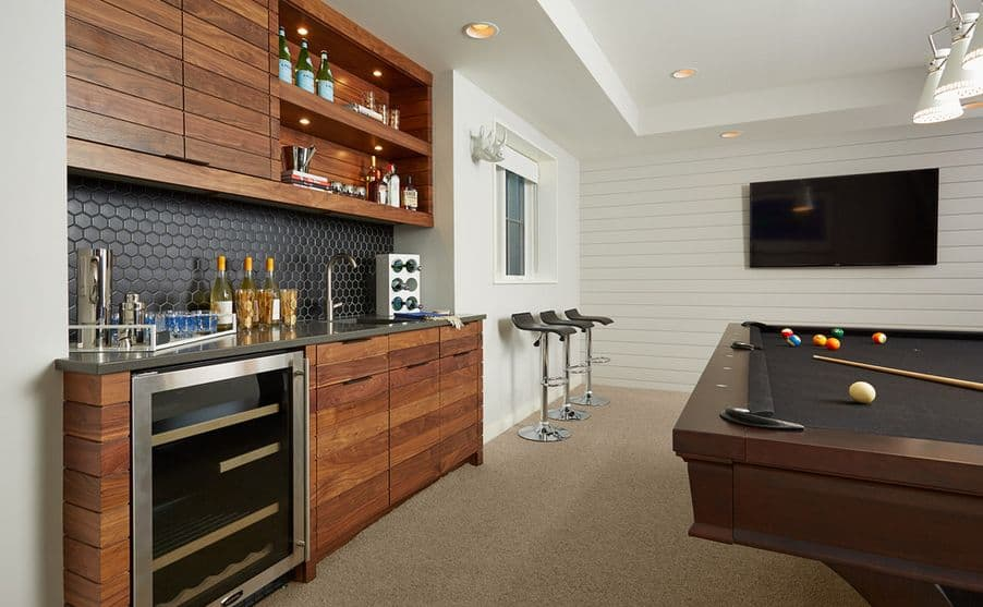 basement bar ideas. A BAR - POOL TABLE COMBINATION IS DEFINITE THRILL Basement Bar Ideas