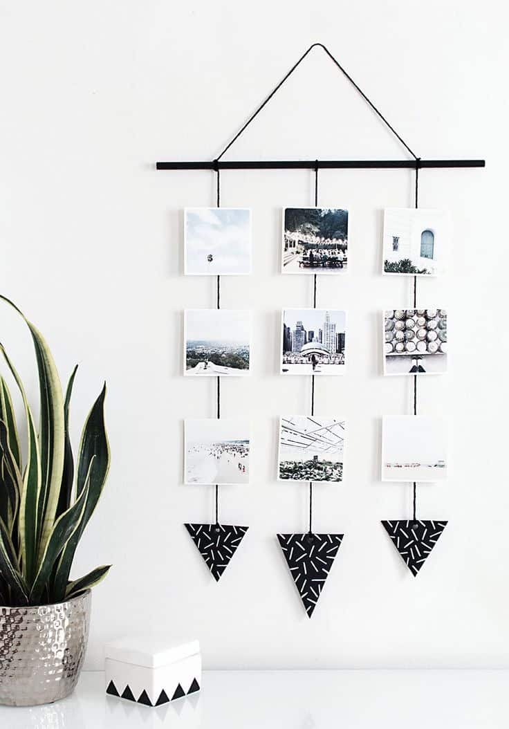 create a photo display in your desk