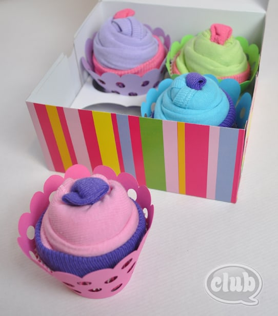 29. HAVE FUN WITH SOCK CUPCAKES