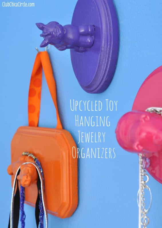 30. USE TOYS TO CREATE EPIC WALL JEWELRY ORGANIZERS