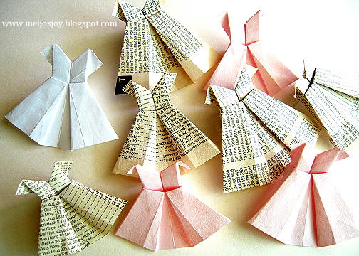 1. START JOY WITH ORIGAMI DRESSES