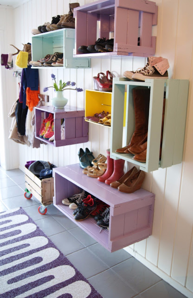 16 Hang Crates And Use Them As Organizers