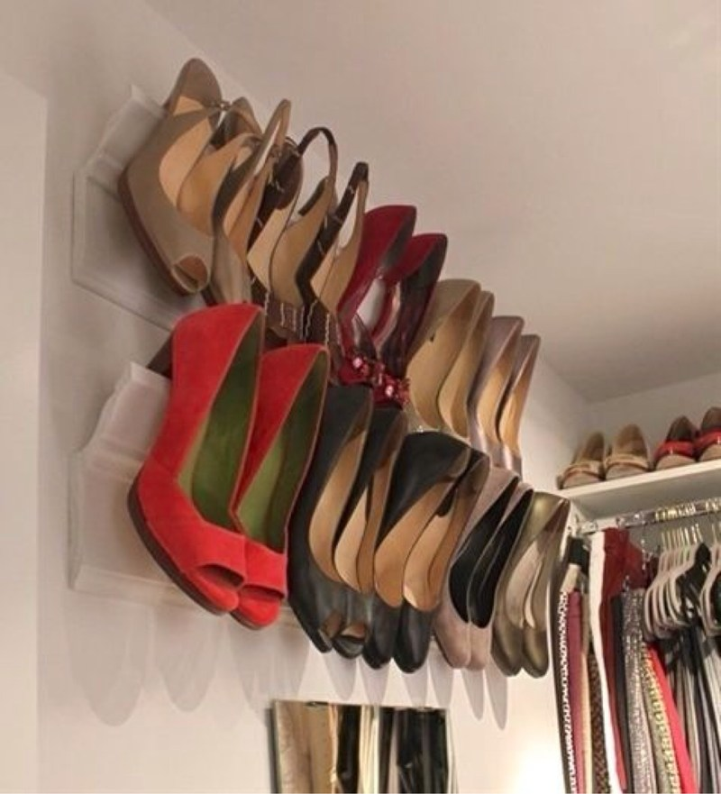 9. Use Crown Moldings As A Place To Store Your Heels