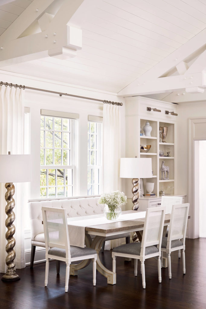 20. An All White, Farmhouse Inspired Dining Room